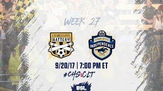 Download USL LIVE - Charleston Battery vs Charlotte Independence 9/20/17 Video