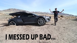 Download Drove my Audi R8 into a Ditch *STUCK IN THE MIDDLE OF THE DESERT* Video