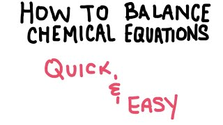 Download How to Balance a Chemical Equation EASY Video