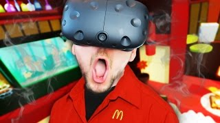 Download VIRTUAL REALITY MCDONALDS   Job Simulator #1 (HTC Vive Virtual Reality) Video