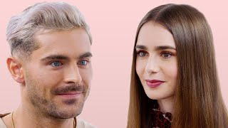 Download Zac Efron and Lily Collins Take a Friendship Test   Glamour Video