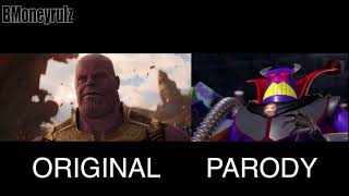 Download Disney/Pixar's AVENGERS: INFINITY WAR Side-By-Side w/ Original Trailer Video