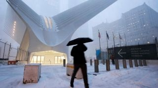 Download Snowstorm slams New York City Video