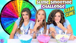 Download MYSTERY WHEEL OF SLIME PART 3 * CLEAR SLIME SMOOTHIE CHALLENGE! Video