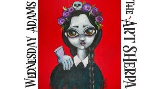 Download How to paint Acrylic on canvas Wednesday Addams Video