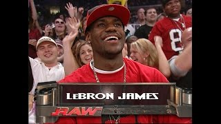 Download See Lebron James' visit to Raw in 2003 Video