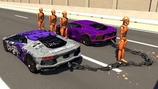 Download Chained Cars Crash Testing - BeamNG DRIVE Video