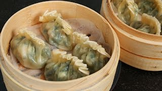 Download Shrimp & Asian chive dumplings (Saeu buchu mandu: 새우 부추 만두) Video