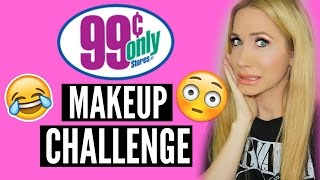 Download DOLLAR STORE MAKEUP CHALLENGE (OH SWEET JESUS HERE WE GO) Video