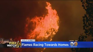 Download Lull In Wind Gives Firefighters A Break Against Holy Fire As It Approaches Homes Video