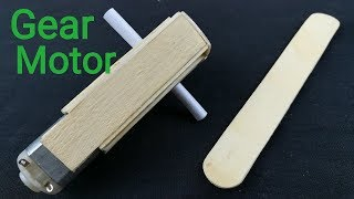 Download How to make DC Gear Motor with ice cream sticks step by step || part 1 Video