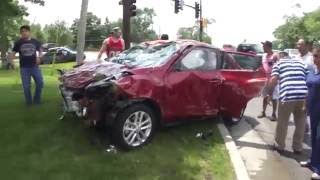 Download Everyone Helps To Turn Car Over After A Car Accident To Save Woman - Restoring Faith In Humanity - Video