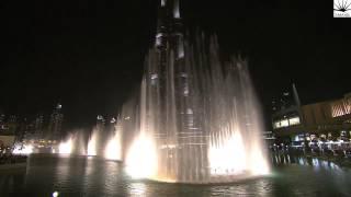 Download The Dubai Fountain, Downtown Dubai performs Ensan Aktar Video