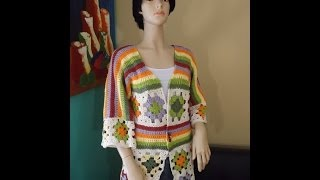 Download Crochet cardigan de cuadrados o granny squares parte 1 - con Ruby Stedman Video