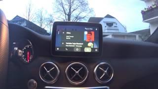 Download W176 Mercedes Benz A Klasse & Android Auto Video