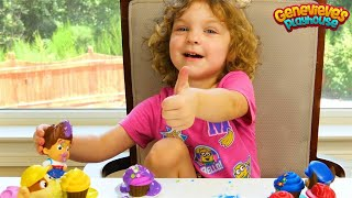 Download Best Toddler Learning Video for Kids Genevieve makes Toy Cupcakes for Paw Patrol w/ Icing, Sprinkles Video