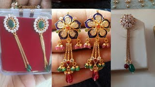 Download New Little Earrings Design 2018 | Latest Tops Design |Golden Earrings Design | Rajputi Earrings Video