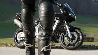 Download smoking leather biker from behind Video