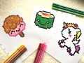 Download Pixel Art - Sushi / Sorbet / Licorne Kawaii Video