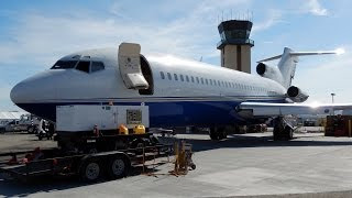 Download Detailed Views of VIP Boeing 727-100 ″This ones for Ryan Bomar″ 2014 Planes of Fame Air Show, Chino Video