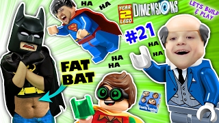 Download FAT LEGO BATMAN? Movie Game! Alfred Shrinks Bat Suit (Let's Build & Play LEGO Dimensions YEAR 2 #21) Video