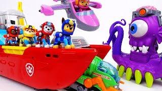Download Go Go Paw Patrol Sea Patrol~! Defeat The Shark Pirate - ToyMart TV Video