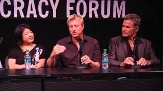 Download Karate Kid 30th Anniversary: Ralph Macchio and Billy Zabka on working with Pat Morita Video