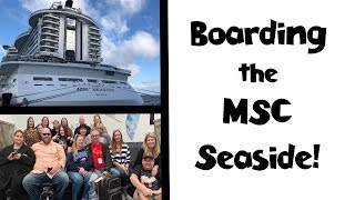 Download Boarding the MSC Seaside Cruise Ship + Lunch + Cabin!! Sea Cruisers Group Cruise Vlog [ep2] Video