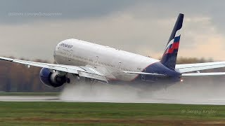Download Aeroflot Boeing 777-300ER spill some fuel on takeoff. Video