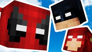 Download Minecraft 2v2 SKY ISLAND SUPERHERO LUCKY BLOCK BATTLES! | (Minecraft Modded Minigame) Video