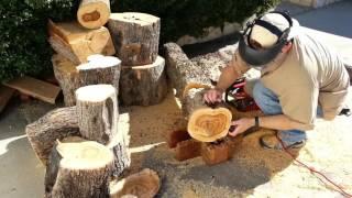 Download 31 - Preparing Olivewood Logs for Bowl Blanks Video