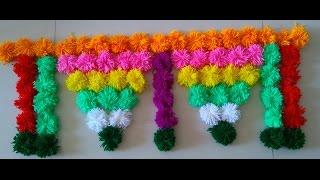 Download handmade toran | DIY Innovative & beautiful Woolen Toran | Door Hanging Toran Part -3 Video
