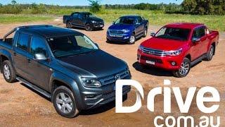 Download 2017 Volkswagen Amarok V6 v Toyota HiLux SR5 v Ford Ranger XLT v Holden Colorado Z71 Comparison Video