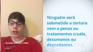 Download Leonard Johann Correia Wilke, Brazil, reading article 5 of the Universal Declaration of Human Rights Video