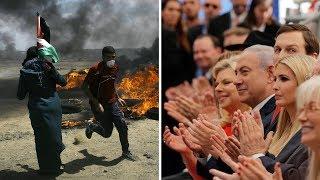 Download Celebrations in Jerusalem, Gunfire in Gaza: 2 Scenes, 40 Miles Apart | NYT News Video