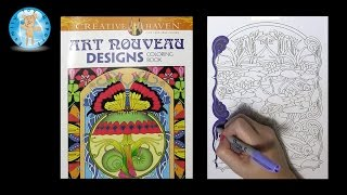 Download Creative Haven Art Nouveau Designs by Marty Noble Adult Coloring Book Fish - Family Toy Report Video