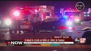 Download 5 dead in crash on MLK Jr. Blvd in Tampa Video