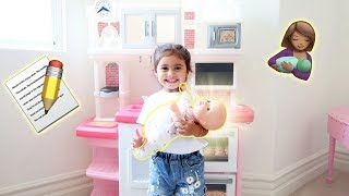 Download ELLE STARTS HER TRAINING TO BE A BIG SISTER!!! **IS SHE READY?** Video