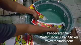 Download Proses Pengecatan Velg Menggunakan Water Slide Decal - RONIta Digital Printing Video