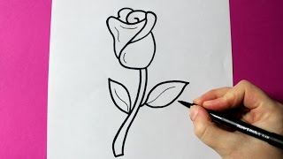 Download HOW TO DRAW A ROSE - SUPER EASY ROSE TO DRAW Video