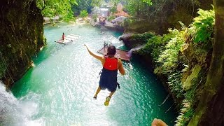 Download Kawasan Falls Cebu Philippines- CLIFF Jumping & Canyoneering Through BADIAN Video