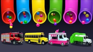 Download Learning Colors and Street Vehicles Names and Sounds for Kids with Lot of 3D Candy Surprise Eggs Video