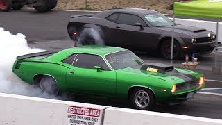 Download Old vs New Muscle Cars Drag Racing - Demon,Cuda,Shelby,ZL1,Hellcat,Dodge Charger Video