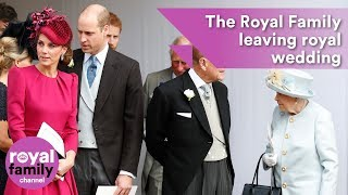 Download The Royal Family leaving Princess Eugenie's wedding Video