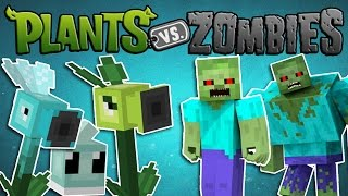 Download Minecraft Mods - PLANTS VS ZOMBIES - Plants and Zombies!! (Plants vs Zombies Minecraft Mod Showcase) Video