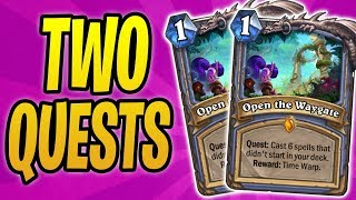 Download COMPLETING *2 QUESTS* IN ONE GAME | HEX LORD MALACRASS OP | Quest Mage | Rastakhan's Rumble Video