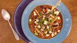 Download Turkey Chili with Apple Salsa and Crispy Tortilla Strips Video