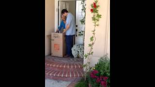 Download Surprised Dad with a Golden Retriever Video