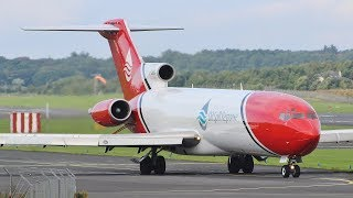 Download Oil Spill Response Boeing 727 Takeoff at Prestwick Airport Video
