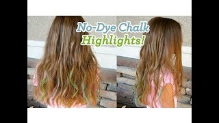 Download No-Dye Chalk Highlights | Easy Hair Color | Cute Girls Hairstyles Video